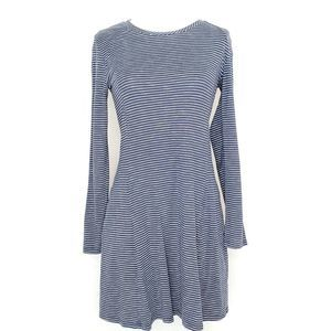 Toad&Co Windmere Long Sleeve Dress Navy Striped S